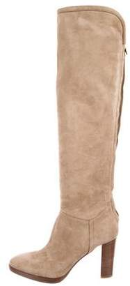 Loro Piana Suede Over-the-Knee Boots