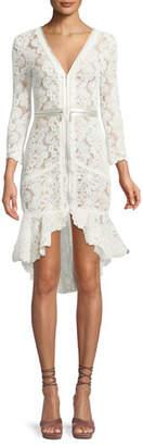 Alexis Parissa Lace Zip-Front High-Low Dress