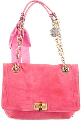 LanvinLanvin Leather Happy Shoulder Bag