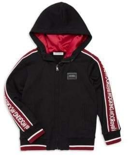Dolce & Gabbana Little Boy's Zip-Up Knitted Hoodie