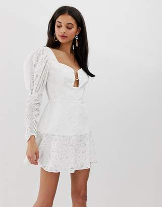 Finders Keepers Evie blouson sleeve mini dress
