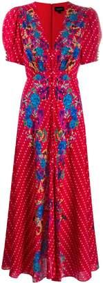 Saloni Scarlet printed dress