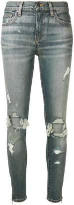 Amiri distressed skinny-fit jeans