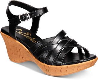 Callisto Cake Walk Platform Wedge Peep-Toe Sandals