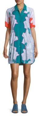 3.1 Phillip Lim3.1 Phillip Lim Surf Silk Floral Shirt Dress