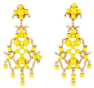 Valentino Resin Chandelier Clip-On Earrings