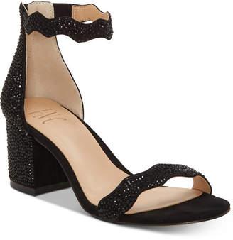 INC International Concepts I.n.c. Hadwin Scallop Block-Heel Sandals, Women Shoes
