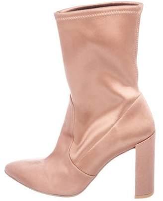 Stuart Weitzman Satin Pointed-Toe Boots