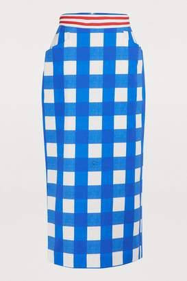 Stella Jean Plaid tube skirt