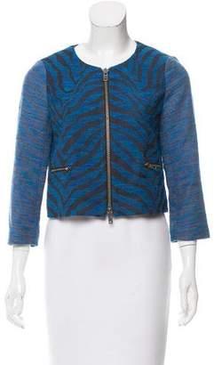 Gryphon Zebra Pattern Tweed Jacket