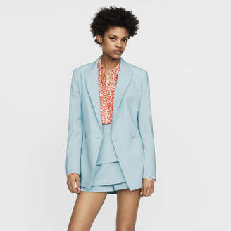 Maje Long wool-blend blazer