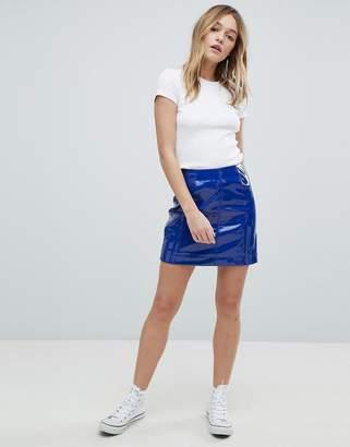Monki Patent Mini Skirt