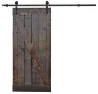 URBAN RESEARCH Calhome Solid Wood Paneled Pine Slab Interior Barn Door