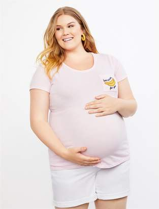 Motherhood Maternity Plus Size Bananas for You Maternity Graphic Tee
