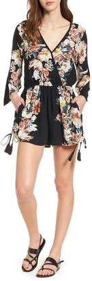 Band of Gypsies Floral Print Surplice Romper