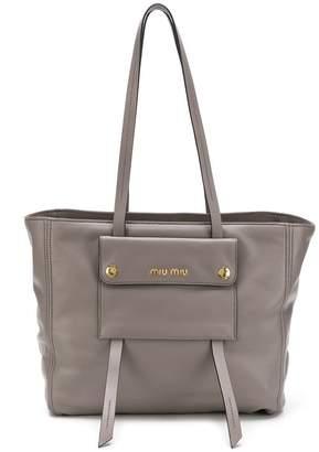 Miu Miu logo shoulder bag