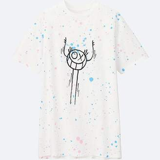 UNIQLO Women's Andre Saraiva Short Sleeve Graphic Long T-Shirt $14.90 thestylecure.com
