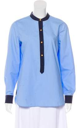 Tory Burch Long Sleeve Button-Up Blouse