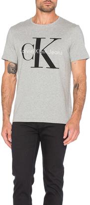 Calvin Klein Short Sleeve Logo Crew Neck $45 thestylecure.com