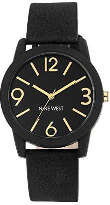 Nine West Women's NW/1930BKBK Strap Watch