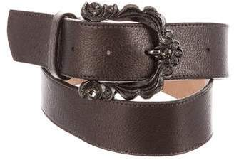 Leather Rock metallic Leather Belt