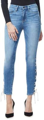 Good American Good Legs Lace-Up High Waist Skinny Jeans