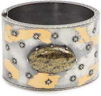 Sterling-silver embellished cuff