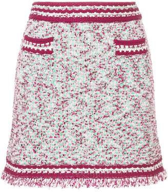 M Missoni patterned contrast trim mini skirt