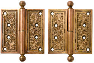 Rejuvenation Pair of Ornate Victorian Door Hinges