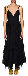 Ulla Johnson Women's Bardot Plissé Cotton Maxi Dress - Black