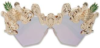 Dolce & Gabbana Eyewear cat eye pineapple sunglasses