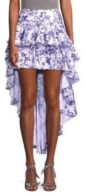 Caroline Constas Ruffled High-Low Skirt