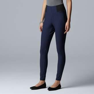 Vera Wang Women's Simply Vera Pinstripe High Waist Leggings
