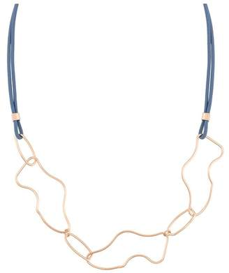 Oliver Bonas Dashell Organic Shapes Collar Necklace