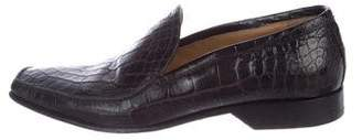 Louis Vuitton Crocodile Leather Dress Loafers