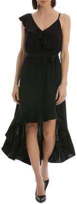 DAY Birger et Mikkelsen Black One Shoulder Ruffle Dress