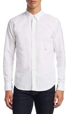 Acne Studios Ohio Face Slim-Fit Cotton Casual Button-Down Shirt