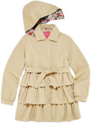 Pink Platinum Triple Tier Trench Raincoat 7-16