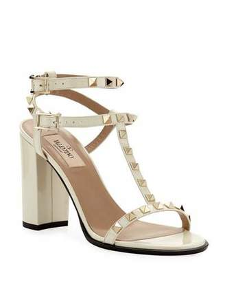 Valentino Rockstud Patent Leather 90mm City Sandal