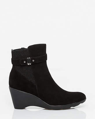 Le Château Suede Wedge Ankle Boot