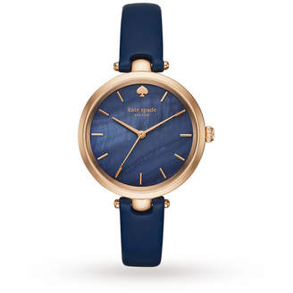 Kate Spade Ladies Holland Blue Leather Strap Watch KSW1157