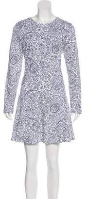 Tory Burch Long Sleeve Print Mini Dress w/ Tags