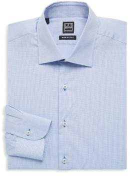 Ike Behar Regular-Fit Mini Polka Dots Cotton Dress Shirt