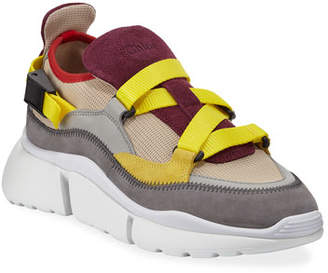Chloé Sonnie Mixed Nylon Sneakers