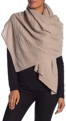 Halogen Ribbed Cashmere Wrap