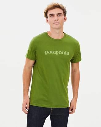 Patagonia Men's Text Logo Organic Cotton T-Shirt