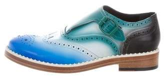 Jimmy Choo Wingtip Brogue Monk Strap Shoes