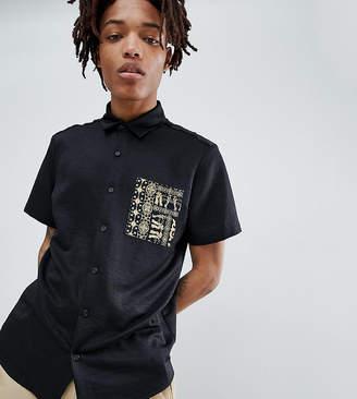 Reclaimed Vintage inspired contrast pocket shirt