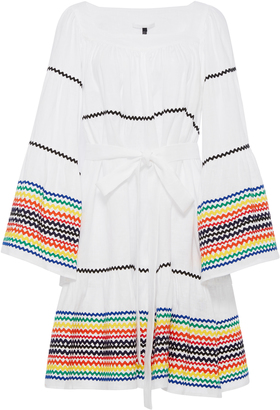 Lisa Marie Fernandez Long Sleeve Peasant Dress with Multicolored RicRac $1,265 thestylecure.com