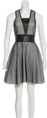 Robert Rodriguez Mesh Sleeveless Mini Dress